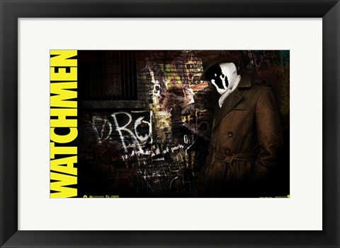 Framed Watchmen - style AI Print