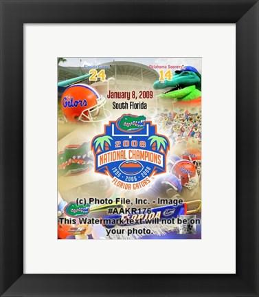 Framed Florida FedEx BCS National Championship Game, Miami, FL (Dolphin Stadium), January 8, 2009 Print