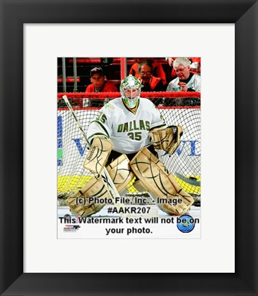 Framed Marty Turco 2008-09 Away Action Print