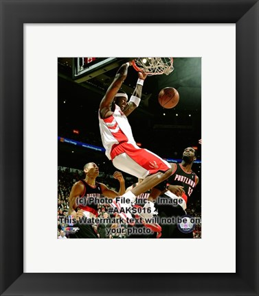 Framed Jermaine O'Neal 2008-09 Action Print