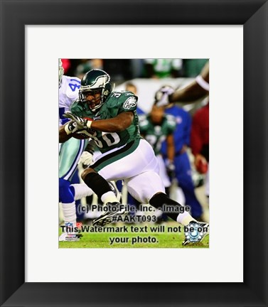 Framed Brian Westbrook 2008 Action Print