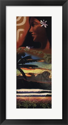Framed Door To Paradise Print