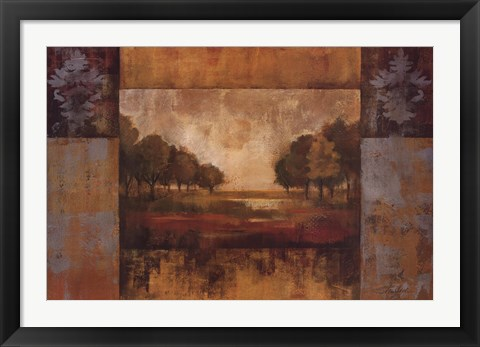 Framed Landscape in Gold Print