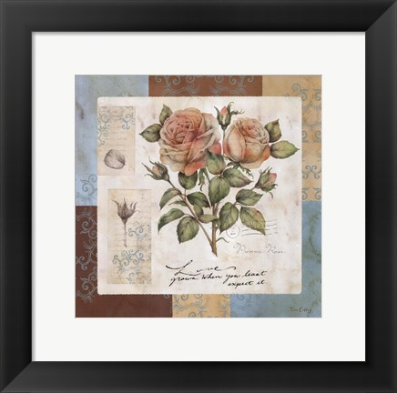 Framed Summer Roses Print