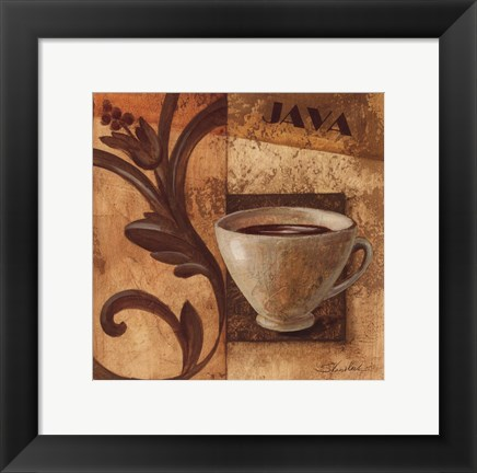 Framed Deco Coffee III Java Print
