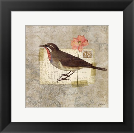 Framed Traveler Bird II Print