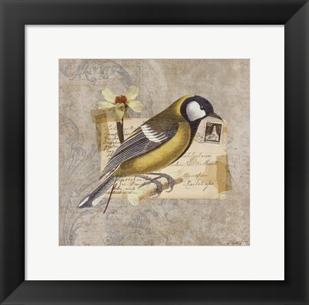 Framed Traveler Bird III Print