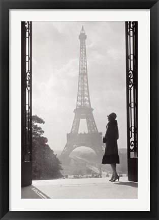 Framed Paris 1928 Print