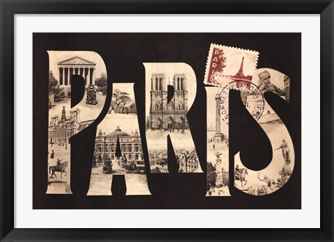 Framed Postcard from Paris Print
