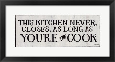 Framed You're the Cook Print