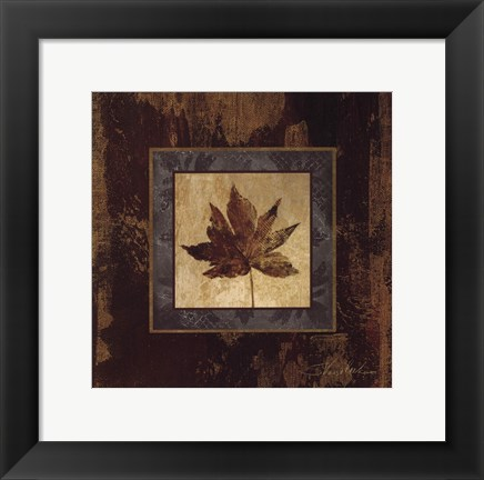 Framed Autumn Leaf Square IV Print