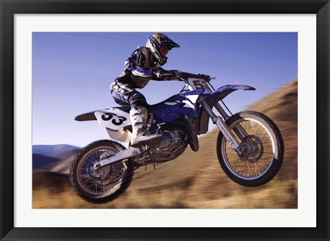Framed Dirt Biker Print