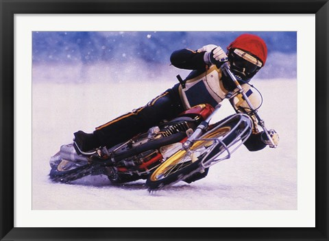 Framed Ice Biker Print