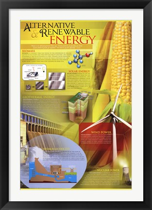 Framed Alternative Renewable Energy Print