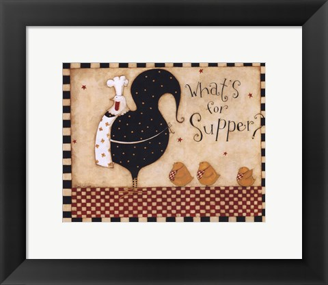 Framed What's for Supper Print