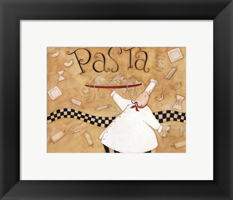 Framed Pasta - Chef Print