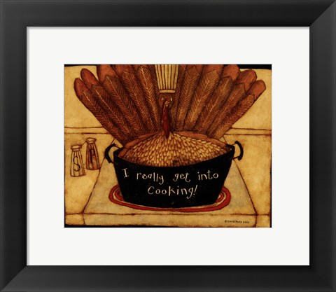 Framed Get into cooking Print