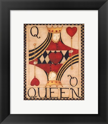 Framed Queen of Hearts Print