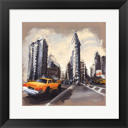 Framed New York - Flatiron Building Print