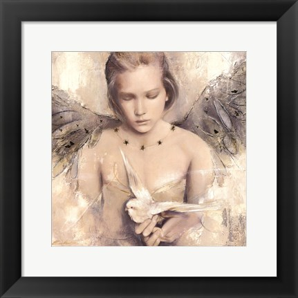 Framed Reverie d'angel Print