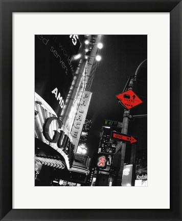 Framed Times Square Night Print