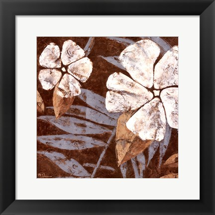 Framed Flowers on Chocolate II Print