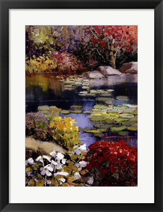 Framed Garden Pond Print