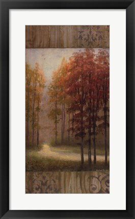 Framed October Trees I Print