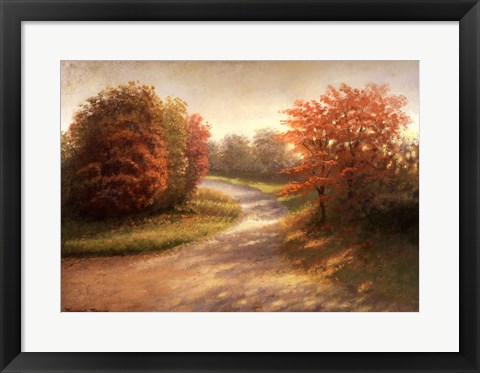 Framed Autumn Lane I Print