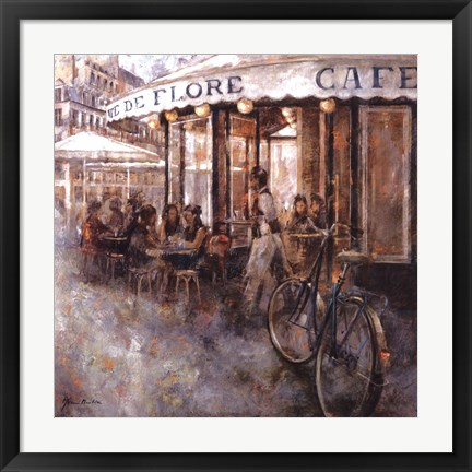 Framed Cafe de Flore, Paris Print