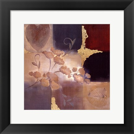 Framed Autumn Accent Floral II Print