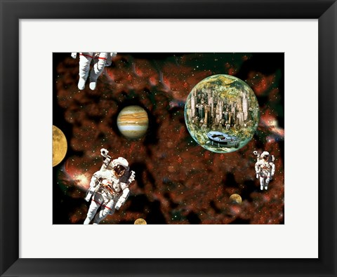 Framed Astronaut View Print