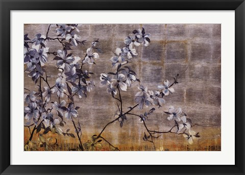 Framed Silver Dogwood Print
