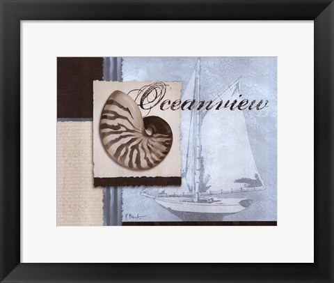 Framed Scrapbook Shell I Print