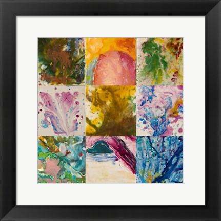 Framed Abstract 6 Panel Print