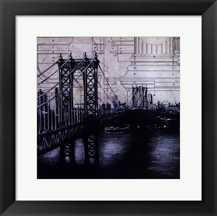 Framed Bridges Of Old II Print
