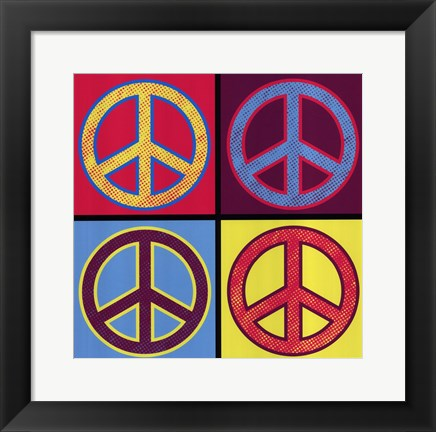 Framed Peace In All Colors Print