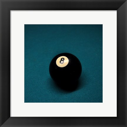 Framed 8 Ball on Blue Print