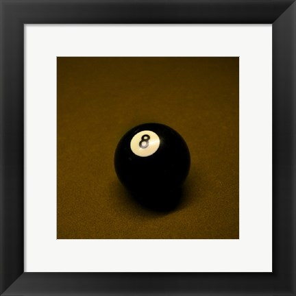 Framed 8 Ball on Brown Print