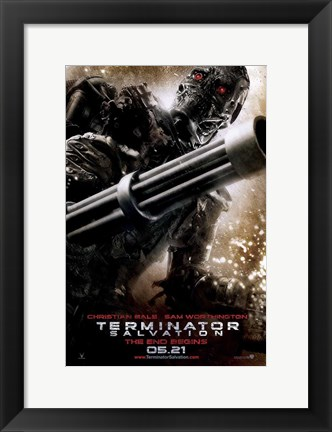Framed Terminator: Salvation - style F Print