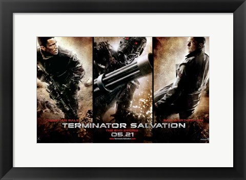 Framed Terminator: Salvation - style H Print