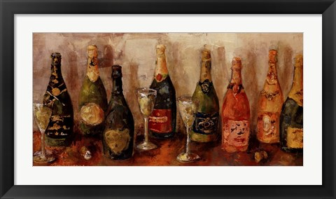 Framed Metallic Wines Print