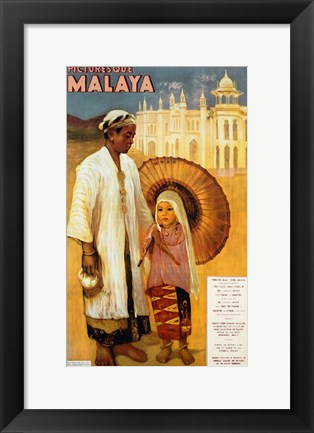 Framed Picturesque Malaya Print