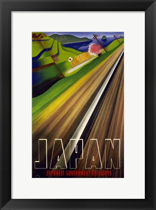 Framed Japanese Railways Print