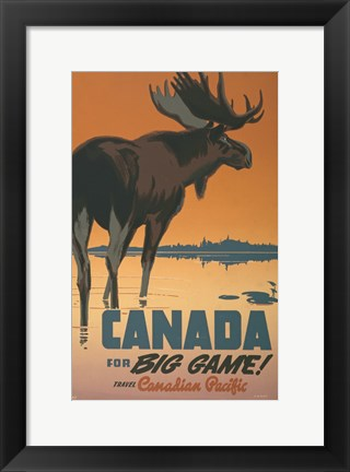 Framed Canada - For Big Game Print