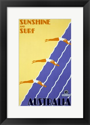 Framed Australia - Sunshine and Surf Print