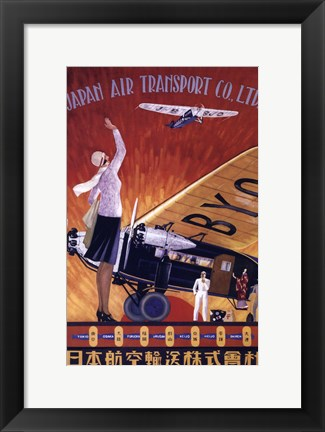 Framed Japan Air Transport Print
