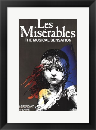 Framed Les Miserables (Broadway) - style A Print