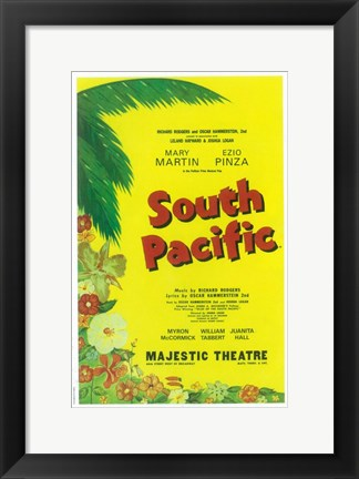 Framed South Pacific (Broadway) Print