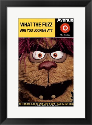 Framed Avenue Q (Broadway) - style C Print